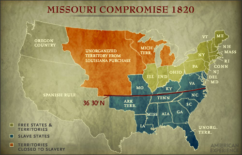 The Missouri Compromise of 1820 - Steps to the Civil War